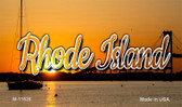 Rhode Island River Sunset Wholesale Magnet M-11628