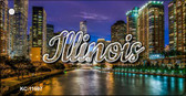 Illinois River City Lights Wholesale Key Chain KC-11597