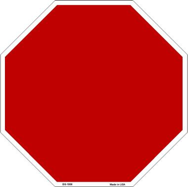 Red Dye Sublimation Wholesale Octagon Metal Novelty Stop Sign