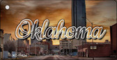 Oklahoma Sunset Skyline Wholesale Key Chain KC-11624