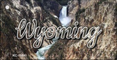 Wyoming Rocky Waterfall Wholesale Key Chain KC-11641