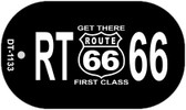 RT 66 Get There First Class Novelty Wholesale Dog Tag Necklace DT-1133
