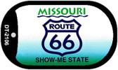 RT 66 Missouri State License Plate Novelty Wholesale Dog Tag Necklace DT-2106