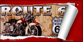 RT 66 Scroll Novelty Wholesale Bicycle License Plate BP-9007