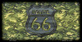 RT 66 Camo Novelty Wholesale Bicycle License Plate BP-1303