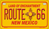 RT 66 New Mexico Novelty Wholesale Motorcycle License Plate MP-103