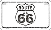 RT 66 Distressed Novelty Wholesale Motorcycle License Plate MP-1252