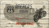 Americas Highway Mother Road Novelty Wholesale Motorcycle License Plate MP-7857
