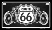 Route 66 Bikes Novelty Wholesale Motorcycle License Plate MP-8701