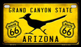 Arizona Route 66 Roadrunner Novelty Wholesale Motorcycle License Plate MP-8773