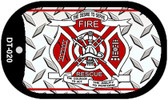 Fire Rescue Diamond Novelty Wholesale Dog Tag Necklace DT-020