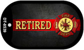 Retired Fire Novelty Wholesale Dog Tag Necklace DT-8539
