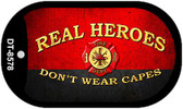 Real Heroes Fire Novelty Wholesale Dog Tag Necklace DT-8578