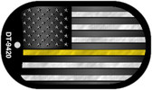 AM Flag Yellow Novelty Wholesale Dog Tag Necklace DT-9420