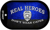 Real Heroes Police Novelty Wholesale Dog Tag Necklace DT-9437