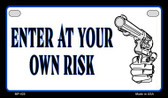 Enter At Your Own Risk Novelty Wholesale Motorcycle License Plate MP-425