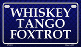 Whiskey Tango Foxtrot Novelty Wholesale Motorcycle License Plate MP-8015