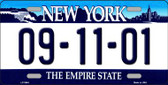 9 11 01 New York Novelty Wholesale Metal Novelty License Plate
