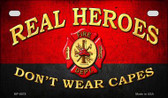 Real Heroes Fire Novelty Wholesale Motorcycle License Plate MP-8578