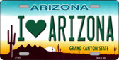 I Love Arizona Novelty Wholesale Metal Novelty License Plate LP-3551