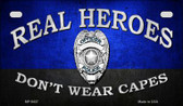 Real Heroes Police Novelty Wholesale Motorcycle License Plate MP-9437