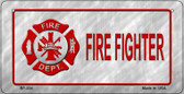 Fire Fighter Novelty Wholesale Bicycle License Plate BP-334
