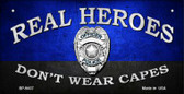Real Heroes Police Novelty Wholesale Bicycle License Plate BP-9437