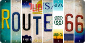 Route 66 Novelty Wholesale License Plate Strips LPS-001
