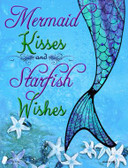 Mermaid Kisses and Starfish Wishes Novelty Wholesale Parking Sign P-1724