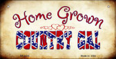 Home Grown Country Gal Novelty Wholesale Bicycle Plate BP-8335