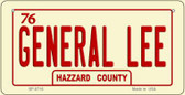 General Lee Hazzard County Novelty Wholesale Bicycle Plate BP-8716