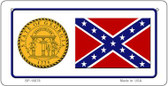 Confederate Georgia Novelty Wholesale Bicycle Plate BP-10878