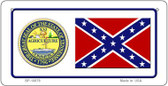 Confederate Tennessee Novelty Wholesale Bicycle Plate BP-10879