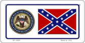 Confederate Mississippi Novelty Wholesale Bicycle Plate BP-10881