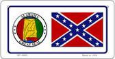 Confederate Alabama Novelty Wholesale Bicycle Plate BP-10883