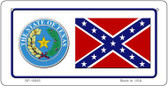 Confederate Texas Novelty Wholesale Bicycle Plate BP-10885