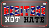 Heritage Not Hate Confederate Novelty Wholesale Motorcycle License Plate MP-7919