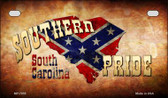 Southern Pride South Carolina Novelty Wholesale Motorcycle License Plate MP-7955