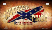 Southern Pride North Carolina Novelty Wholesale Motorcycle License Plate MP-7972