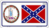 Confederate Virginia Novelty Wholesale Motorcycle License Plate MP-7997