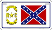 North Carolina Confederate Novelty Wholesale Motorcycle License Plate MP-8094