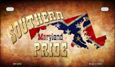 Southern Pride Maryland Novelty Wholesale Motorcycle License Plate MP-8253