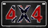 4 x 4 Novelty Wholesale Motorcycle License Plate MP-8389