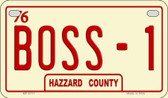 Boss -1 Novelty Wholesale Motorcycle License Plate MP-8711