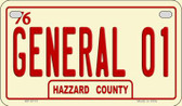 General 01 Novelty Wholesale Motorcycle License Plate MP-8715