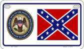 Confederate Mississippi Novelty Wholesale Motorcycle License Plate MP-10881