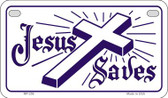 Jesus Saves Novelty Wholesale Motorcycle License Plate MP-256