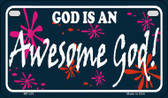 God Is An Awesome God Novelty Wholesale Motorcycle License Plate MP-251