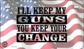 I'll Keep My Guns Wholesale Motorcycle License Plate MP-4679