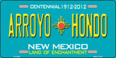 Arroyo Hondo Teal New Mexico Novelty Wholesale License Plate LP-11653